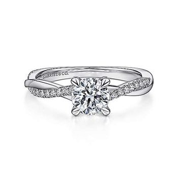 Gabriel NY Twist Shank Engagement Ring
