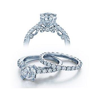 Verragio Insignia 7001RD - 18k White Gold Diamond Engagement Ring by Verragio