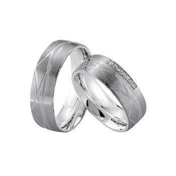 Palladium and Silver 7mm Wedding Band
