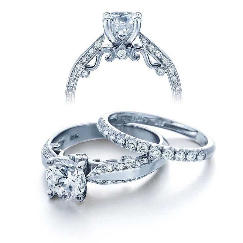 Verragio Verragio Insignia 7038 - 18k White Gold Diamond Engagement Ring by Verragio