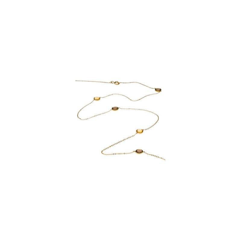 Signature Collection Genuine Checkerboard Multi Gem-stone Necklace