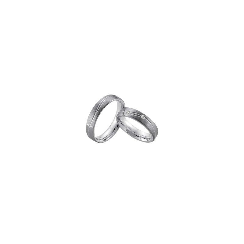Samuel Jewels Palladium and Silver 5mm Wedding Band