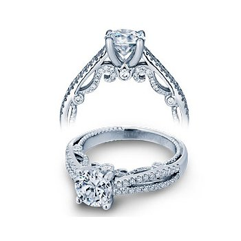 Verragio Insignia 7073R - Verragio Engagement Ring Split Shank in 14k White Gold