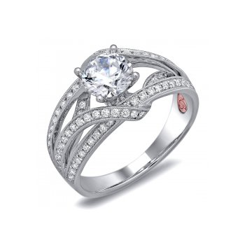 Demarco DW6078 - 18k White Gold Engagement Ring by Demarco