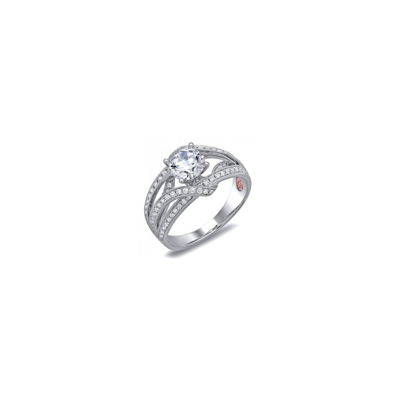 Demarco Demarco DW6078 - 18k White Gold Engagement Ring by Demarco