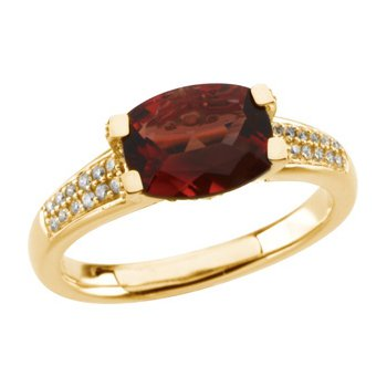 Genuine Solaris Sun Stone & Diamond Ring