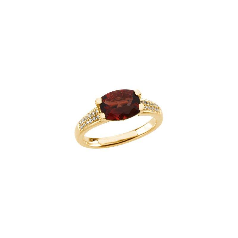 Signature Collection Genuine Solaris Sun Stone & Diamond Ring