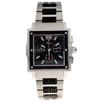 Classique Gents Stainless Steel 50m Chronograph Black Plating Swiss Quartz Watch - #35827