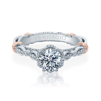 Verragio Parisian 141R in 14k White and Rose Gold