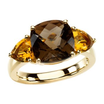 Genuine Checkerboard Multi Gem-stone Ring