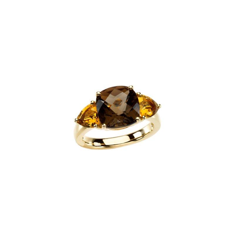 Signature Collection Genuine Checkerboard Multi Gem-stone Ring