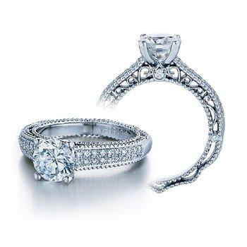Verragio Venetian 5011R - 18k White Gold Diamond Engagement Ring by Verragio