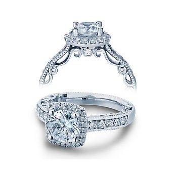 Verragio Paradiso-3077CU-PLT Platinum Diamond Engagement Ring by Verragio