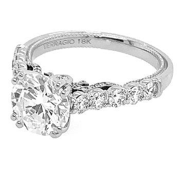 Verragio Insignia 7098R 18k White Gold Solitaire Engagement Ring