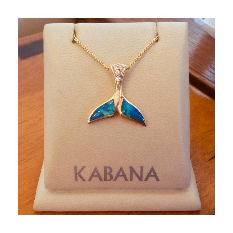 Kabana Jewelry Kabana Australian Opal Whale's Tail Pendant