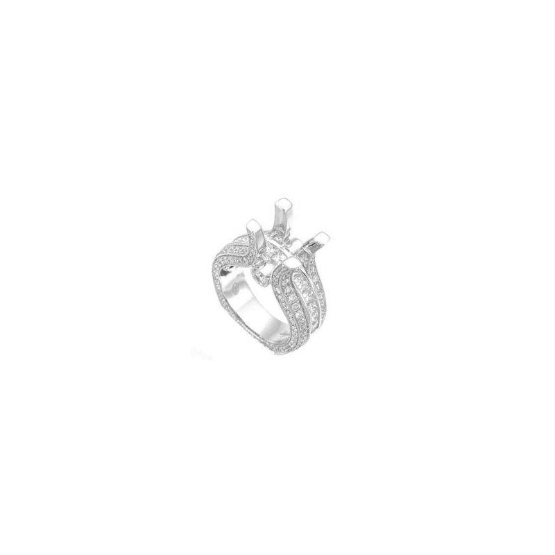 Signature Collection 18k White Gold Diamond Engagement Ring Mounting - SJU573R-ELI
