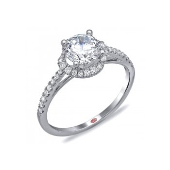 Demarco DW6085 - 18k White Gold Engagement Ring by Demarco