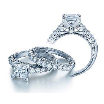 Verragio Venetian 5010P - 18k White Gold Diamond Engagement Ring by Verragio