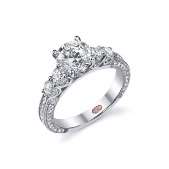 Demarco DW5180 - 18k White Gold Engagement Ring by Demarco