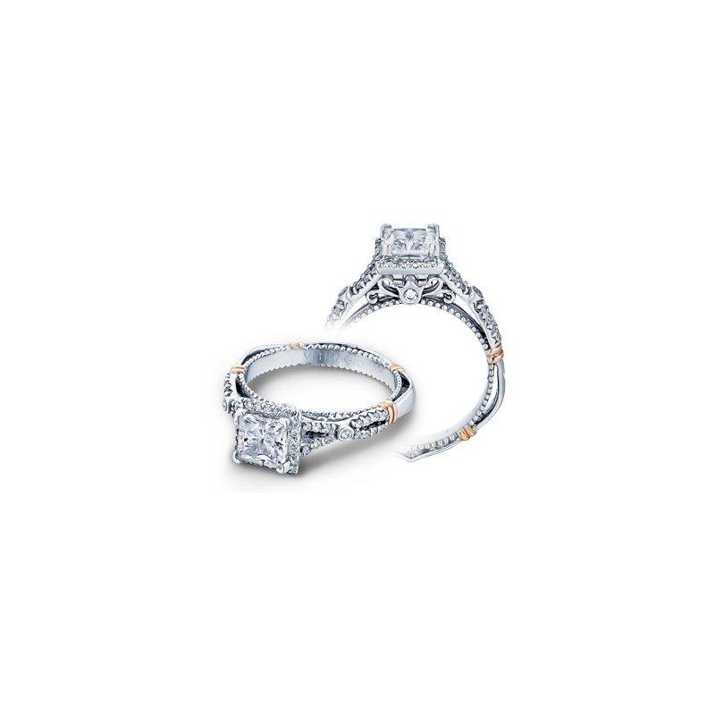 Verragio Verragio Parisian D-109P - 14k White and Rose Gold Diamond Princess Cut Halo Engagement Ring by Verragio