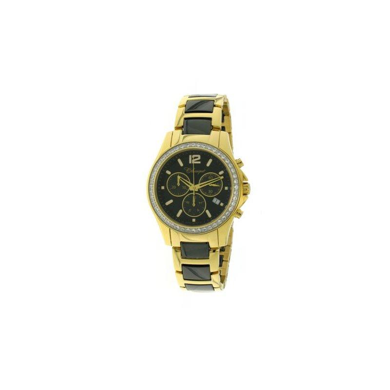 Swiss Watches Classique Ladies' Chronograph Black Ceramic Watch - #87-04GB