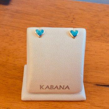 Kabana Australian Opal Heart Shaped Stud Earrings