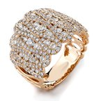Signature Collection 18k White Gold Fancy Pave' Set Diamond Band - #38595