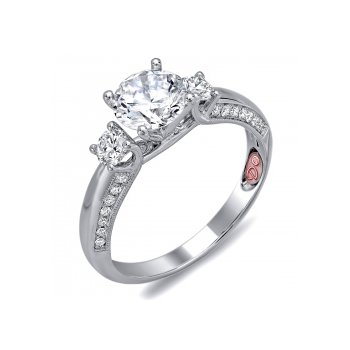 Demarco DW6093 - 18k White Gold Engagement Ring by Demarco