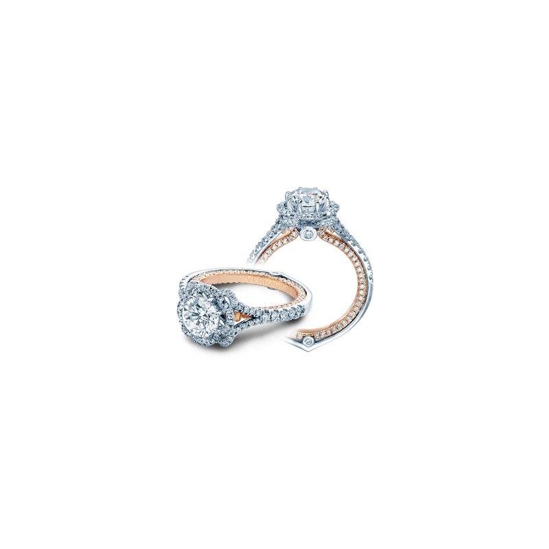 Verragio Verragio Couture 0426TT - 18k White and Rose Gold Halo Style Diamond Engagement Ring by Verragio