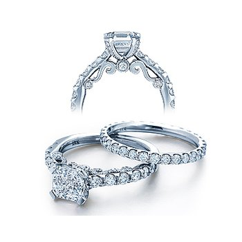 Verragio Insignia 7001 - 18k White Gold Diamond Engagement Ring by Verragio