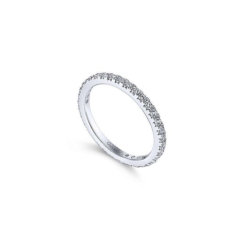 Gabriel NY 14k White Gold Micro Pavé Set Eternity Ring Anniversary Band by Gabriel NY