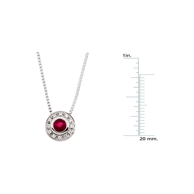 Signature Collection Genuine Ruby & Diamond Necklace