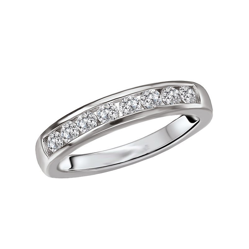 Signature Collection 14k White Gold 3/8ctw Channel Set Diamond Band