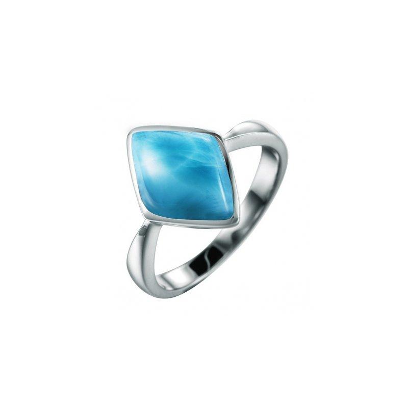 Alamea Larimar  Alamea Sterling Silver Rhombus Ring with Larimar