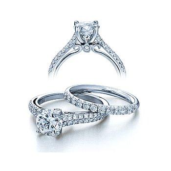 Verragio Couture 0382R - 18k White Gold Diamond Engagement Ring by Verragio