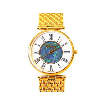 Classique' Watches Genuine Australian Opal Dial Watch - #14-43GP OPD