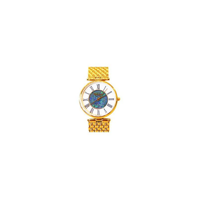 Swiss Watches Classique' Watches Genuine Australian Opal Dial Watch - #14-43GP OPD