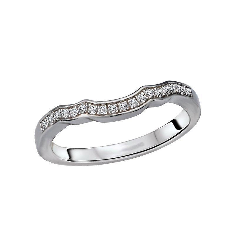 Signature Collection 14k White Gold Scalloped Diamond Wedding Ring