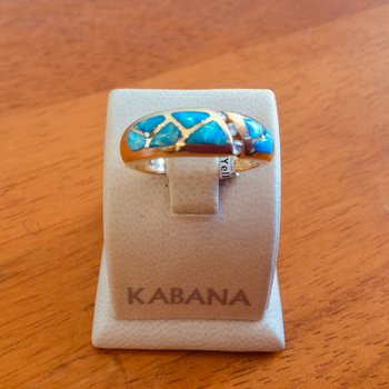 Kabana Australian Opal and Diamond Freeform Pattern Ring - #34668
