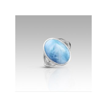 Marahlago Basic Collection Oval Larimar Ring