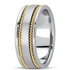 Unique Settings Unique Settings HM250 - Y - 14k Yellow Gold Handmade Handwoven 8mm Men's Wedding Band
