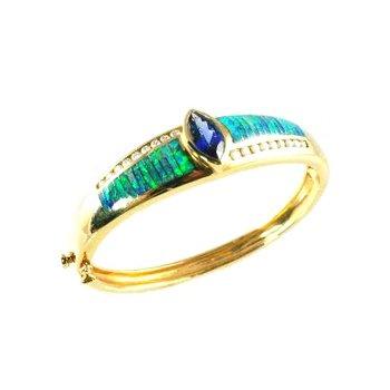 Kabana Australian Opal Inlay & Diamond Bracelet