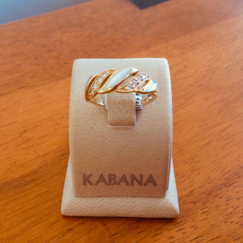 Kabana Jewelry Kabana White Mother of Pearl and Diamond Ring