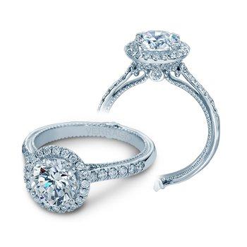 Verragio Couture-0430DR - 14k White Gold Round Halo Diamond Engagement Ring by Verragio