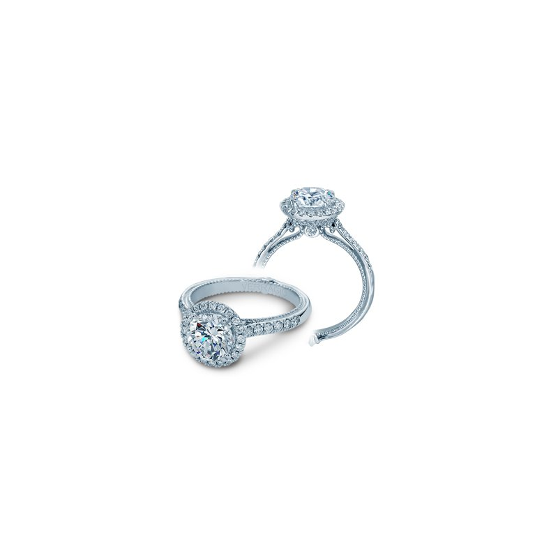 Verragio Verragio Couture-0430DR - 14k White Gold Round Halo Diamond Engagement Ring by Verragio