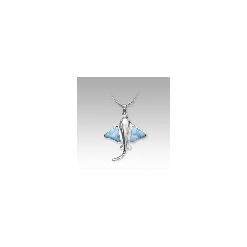 Sealife Jewelry Marahlago Larimar Manta Ray Necklace