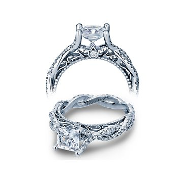 Verragio Venetian 5031 - 14k White Gold Diamond Engagement Ring by Verragio