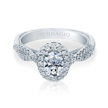Verragio Renaissance Collection Twist Shank Oval Halo Engagement Ring V918OV