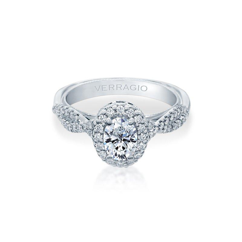 Verragio Verragio Renaissance Collection Twist Shank Oval Halo Engagement Ring V918OV