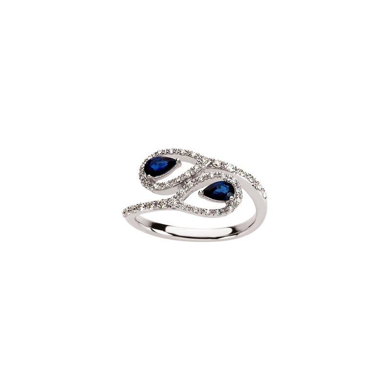 Signature Collection Genuine Blue Sapphire & Diamond Ring - El1603134